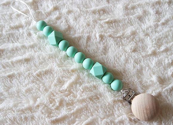 Attache tétine perles