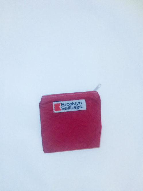 "mini red spinnaker zip pouch L5.5""x5"""