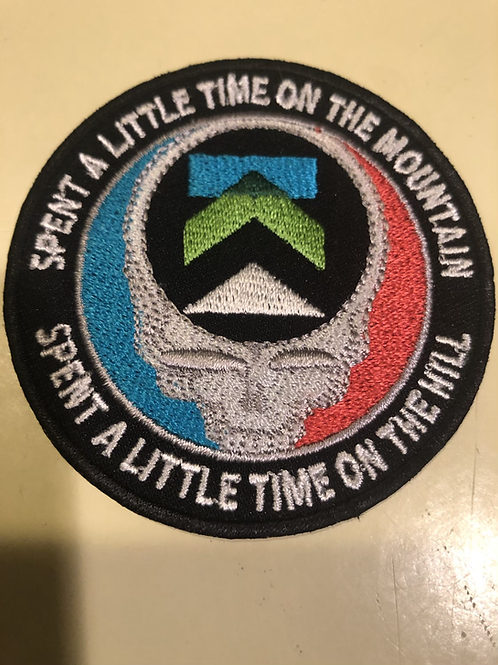 2.75 inches, iron on embroidered patch