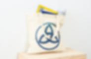 Triquetra symbol in bag