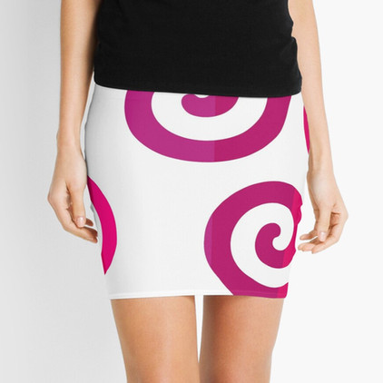 Triskelion symbol in Mini Skirt