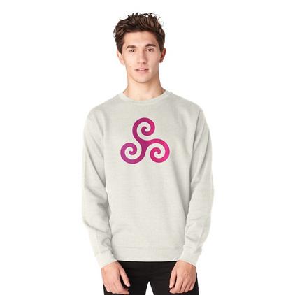 Triskelion symbol in Pullover Sweatshirt