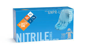 The Safety Zone - Blue Nitrile Glove Powder-Free (100/box)