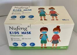 Nufeng Kids 3-Ply Disposable Masks