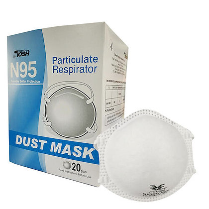 NIOSH N95 Dust Masks (20 Pcs)