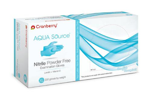 Cranberry Aqua Source Nitrile Powder Free Exam Gloves (200/box)