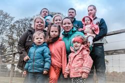 Patrycja with  family