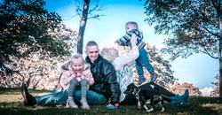 Beata and Przemek with children