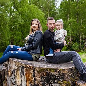 Weronika Marcel Klara z rodzinka