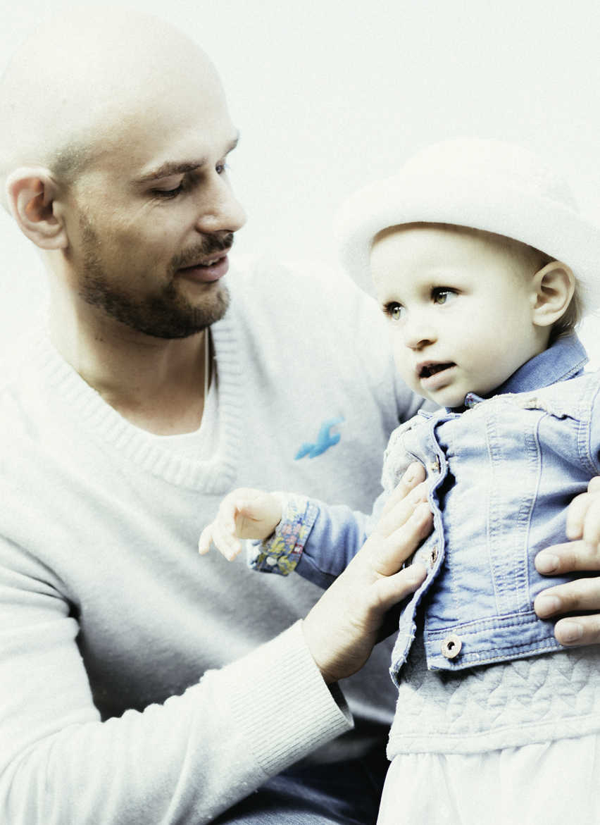 Michal with daughter