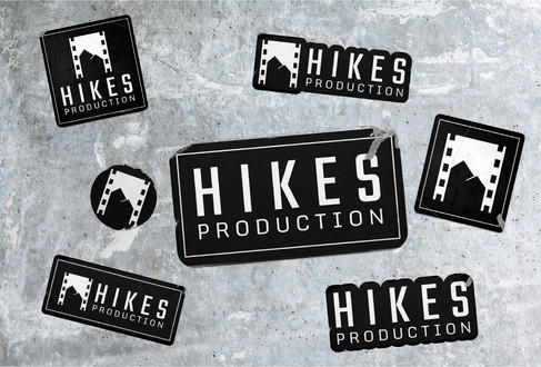Hikes Production Black Stickers