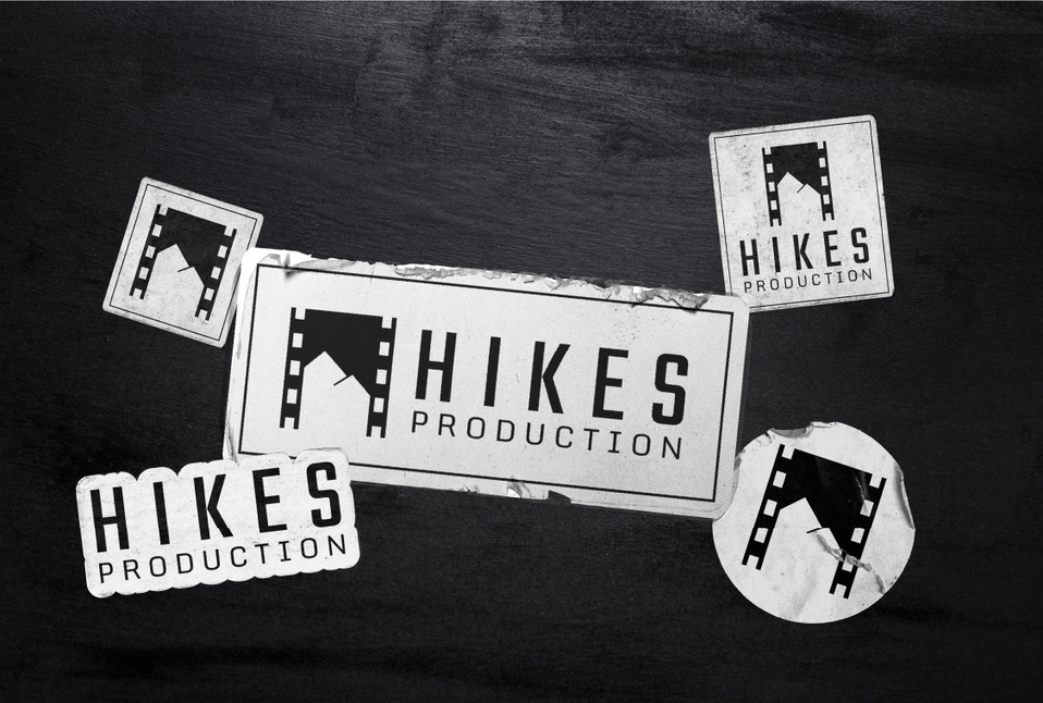 Hikes Production White Stickers