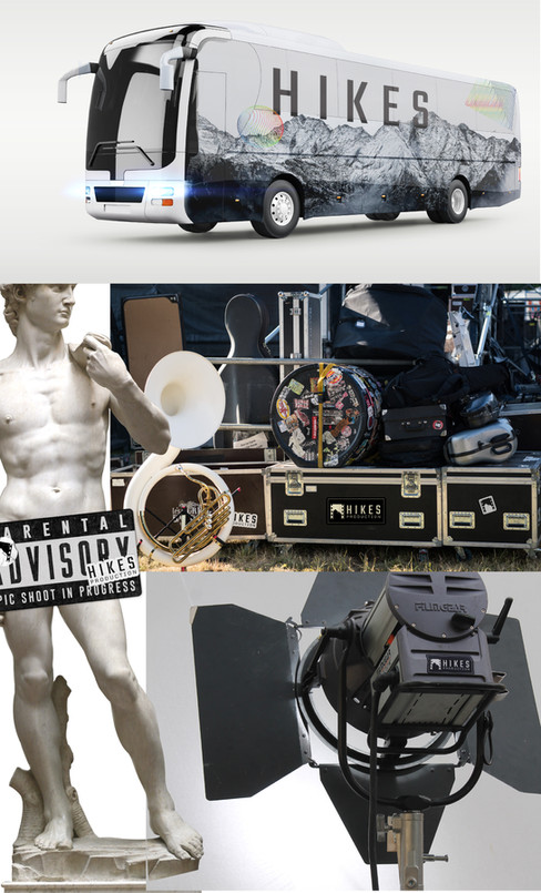 Hikes Production Vanity Van & Equipment Branding