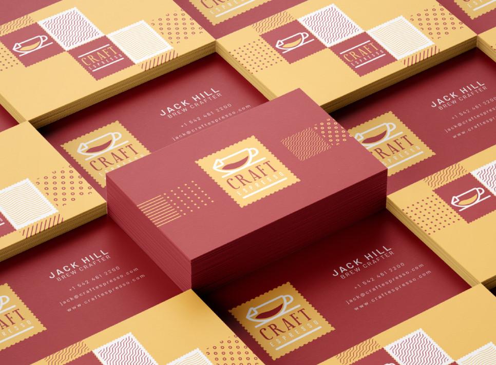 Craft Espresso Visiting Cards