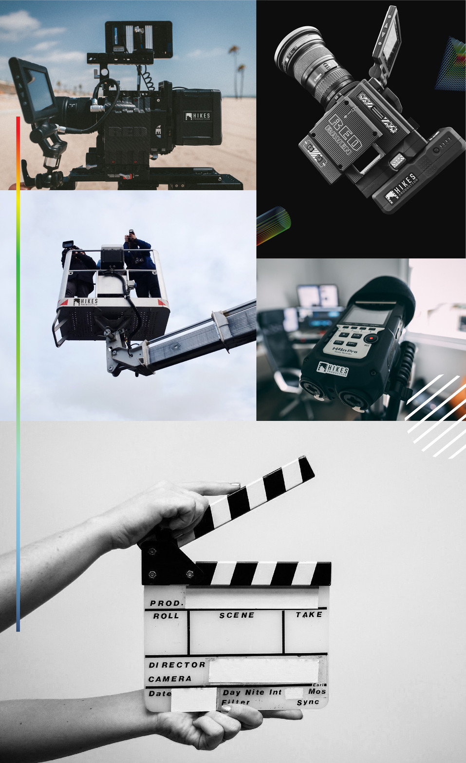 Hikes Production Equipment Branding