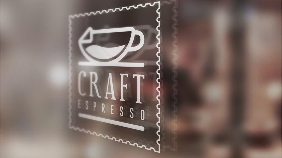 Craft Espresso Window branding