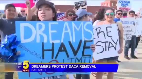 Fort Smith showed up to rally for DACA and Immigration Reform yesterday! Check out this video by 5NEWS.   #UndocumentedUnafraid #SinPapelesYSinMiedo