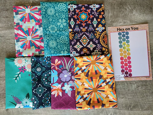 Quilt project pack with Mister Domestic fabrics