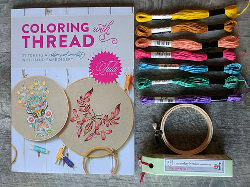 Tula Pink embroidery project pack