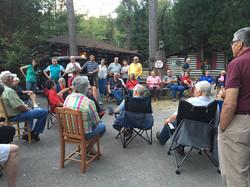 Meeting at Log Cabin Motor Court