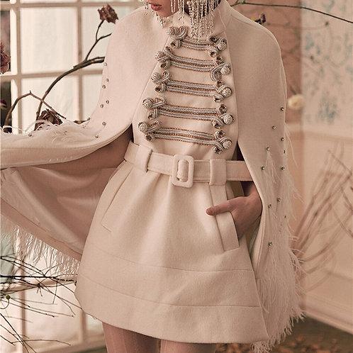Winter Mosaic High Collar Dress