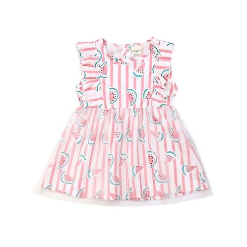 Baby Girl Sleeveless Watermelon Dress