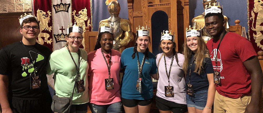 2018-2019 IN HOSA Officer Team at Medieval Times
