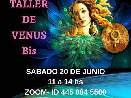 Taller de Venus Sábado 20 de junio 11 a 14 hs