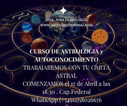 curso de astrologia y autoconocimiento (