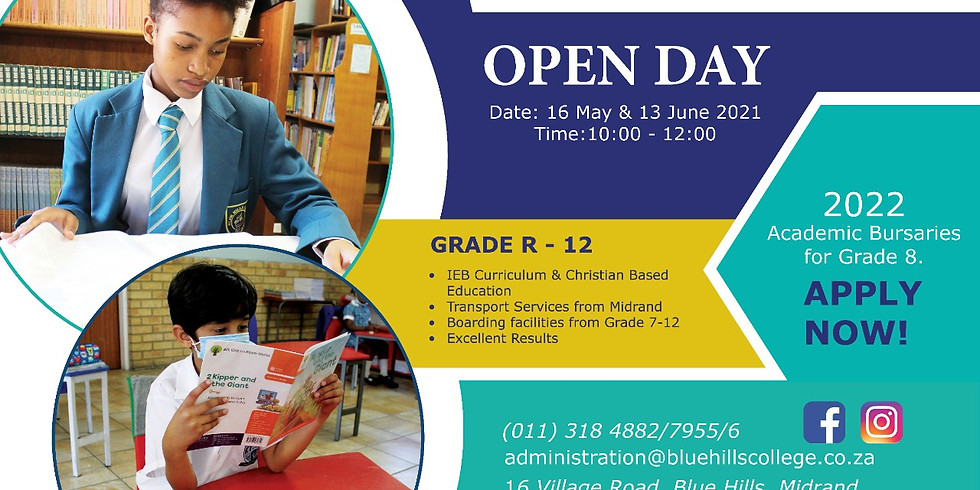 Open day 16 May 2021
