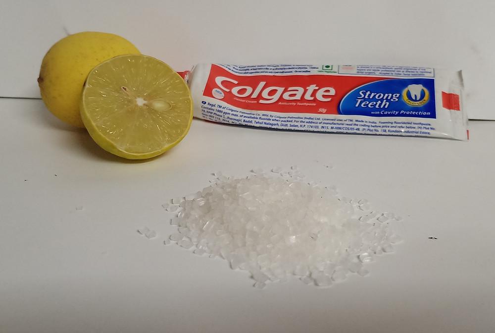 Home Beauty hacks | Colgate-Lemon-Sugar
