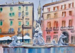 Fountain Neptune, Rome, Italy