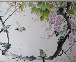 Spring Breeze - sliver eye birds