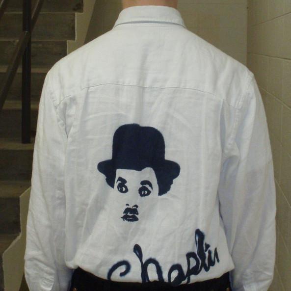 Chaplin screen print