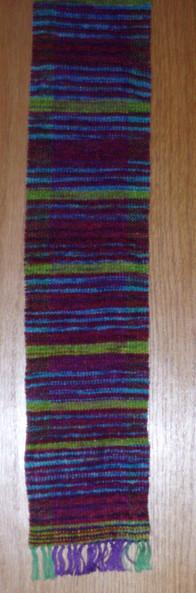 Chenille woven scarf