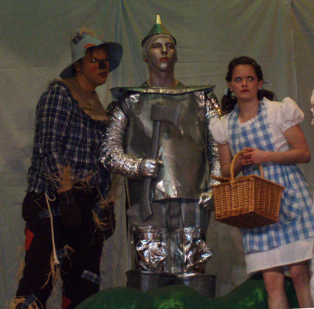 The Scarecrow, The Tin Man, and Dorthy