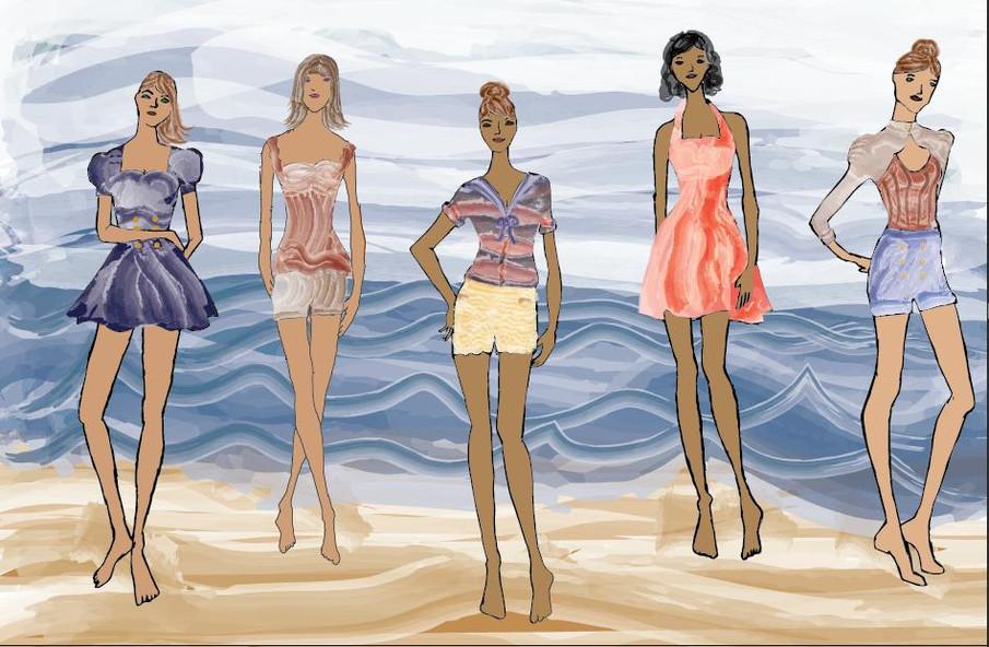 Fashion line renderings