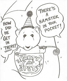Party Pets Free Coloring Page