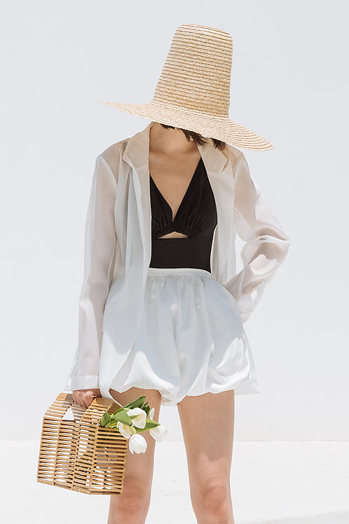 UV-Proof White Transparent Blazer