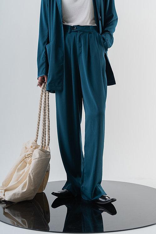 Peacock Blue Wide Pants