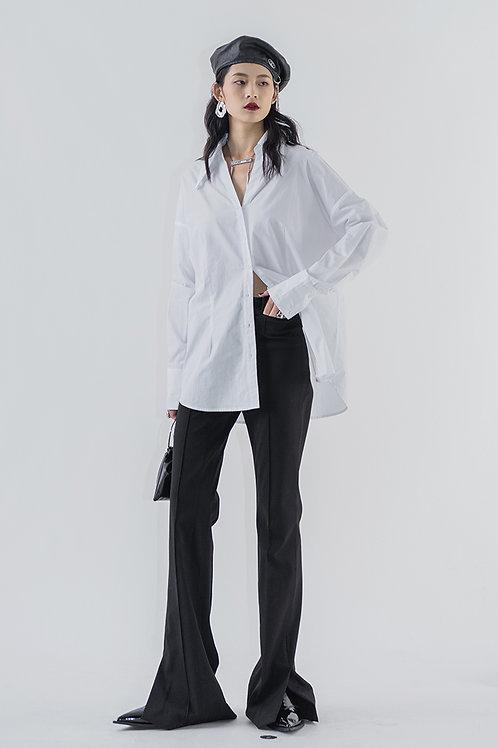 White Peaked Lapel Shirt