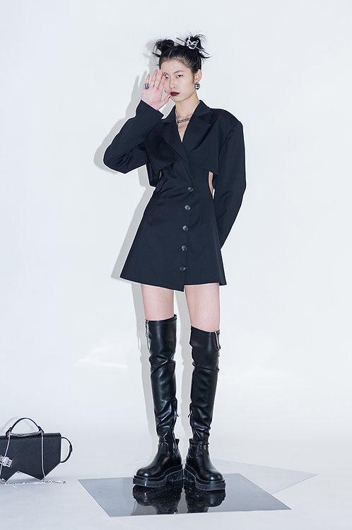 Black X Dress Blazer
