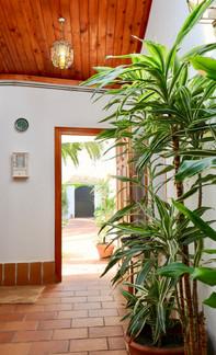 Eingangshalle und Pflanzen