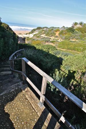 Zugang zum Sandstrand
