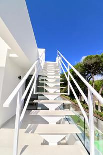 Designtreppen zur Dachterrasse