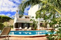 Casa con piscina y palmeras