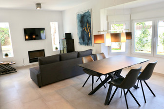 Bright living dining room