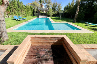 Barbecue and pool