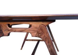 """""""Scale"""" Desk Walnut Burl Detail"""