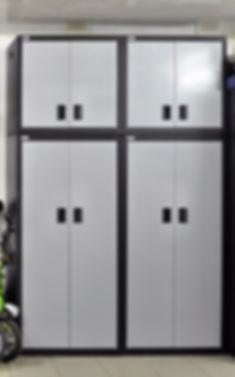 Металлические шкафы с антресолями